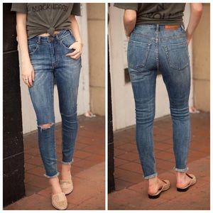 One Teaspoon Freedbirds II High Rise Ankle Jeans